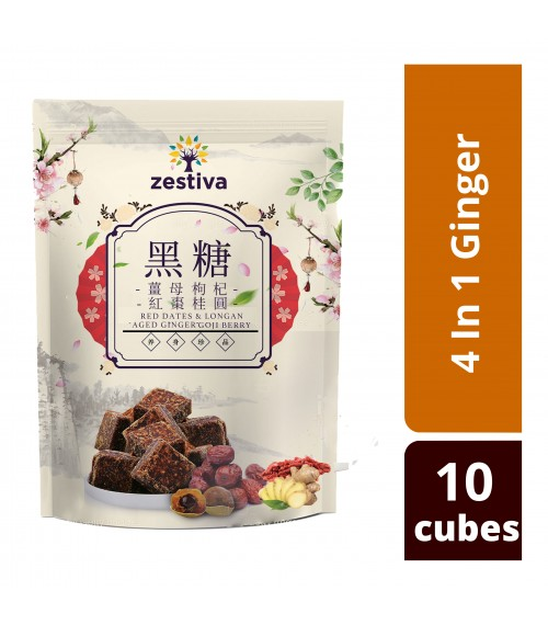 Zestiva Taiwan Brown Sugar 4 in 1 Aged Ginger Tea ( 10 cubes)
