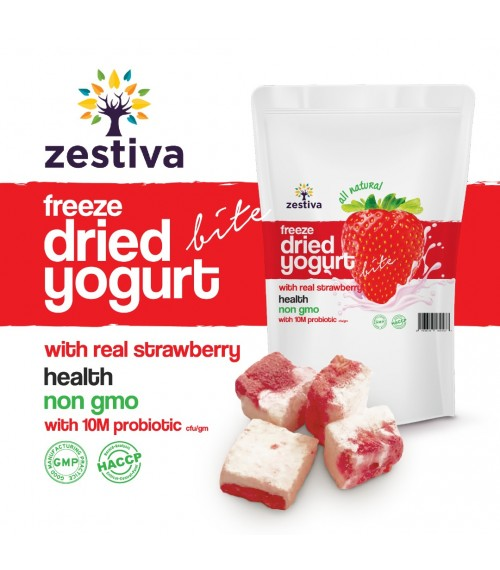 Zestiva Freeze Dried Strawberry Yogurt Bites