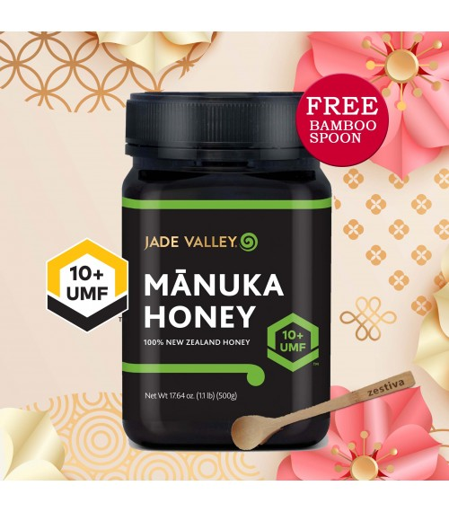 Jade Valley NZ UMF 10+Manuka Honey (500g) Bundle of 2 at 81