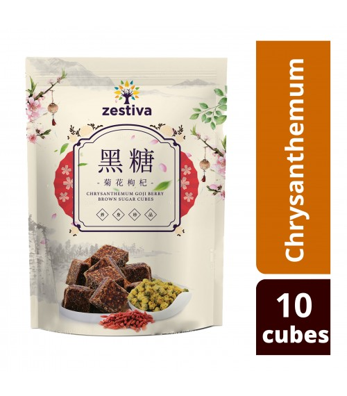Zestiva Taiwan Brown Sugar Goji Chrysanthemum Tea ( 10 cubes)