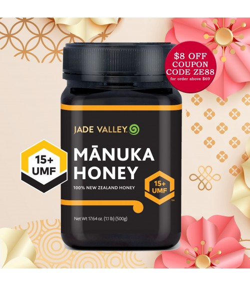 Jade Valley NZ UMF 15+ Manuka Honey (500g), Bundle of 2 at $120
