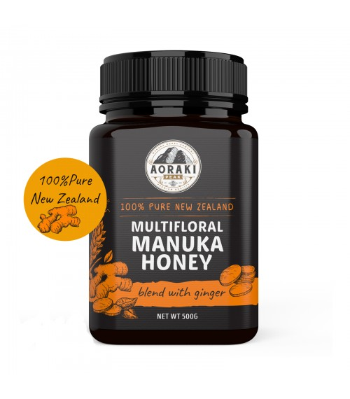 Aoraki Peak Manuka Honey Blend with Ginger , 500g