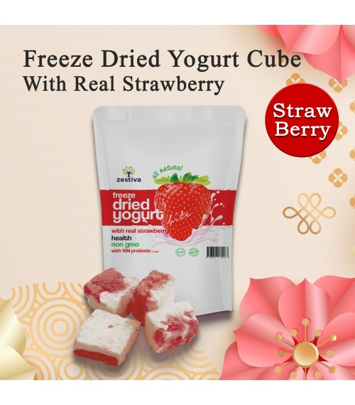 Zestiva Freeze Dried Strawberry Yogurt Bites (50g)