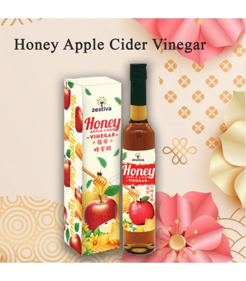 Zestiva  Honey apple Cider  Vinegar , 400ml with box